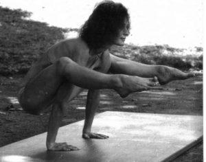 équilibre sur les bras-posture du corbeau-yvette clouet
