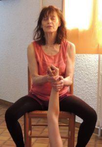 Exercice a deux-détente du bras et de l'epaule